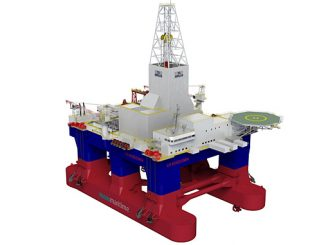 Moss Maritime CS60 ECO MW design drilling rig (illustration: Kongsberg Maritime)