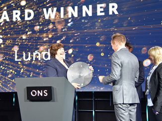 The award was presented for the 15th time by NPD director general Bente Nyland at an event during the ONS 2018 oil show in Stavanger (photo: NPD)