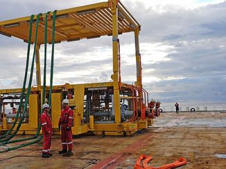 The new Visund Nord IOR subsea template before installation on the field
