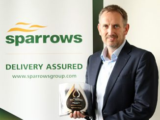 Matt Corbin, director of European operations at Sparrows, was presented with the 2018 Press and Journal Gold Awards' Renewables Award