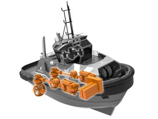 The innovative Wärtsilä HY hybrid power module establishes a new benchmark in hybrid marine propulsion