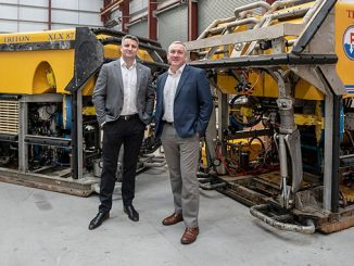 Two senior members of the ROVOP staff – from left, business development consultant Michael O'Donnell and operations director Doug Middleton – will staff the new Middle East operation