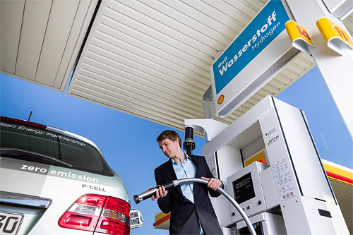 In Germany, Shell has hydrogen facilities at five of its retail stations – and one station uses electricity generated by wind power to produce low carbon hydrogen, which is stored on-site