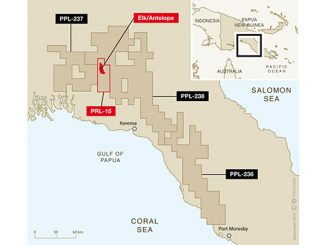 PRL-15 – the Elk and Antelope gas fields, two of the biggest finds in the Asia-Pacific region, were discovered in the license in 2006 and 2009 respectively