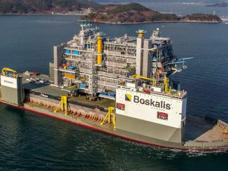 The Johan Sverdrup processing platform is now sailing to Norway on board 'Boskalis Vanguard', the world's largest heavy-transport vessel