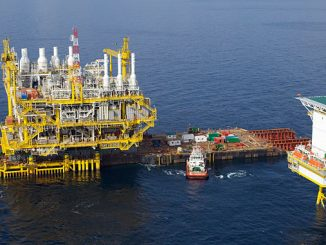 McDermott's 'Intermac 650' is the world's second-largest float-over installation vessel, and its four double-action hydraulic jacks can be arranged to load a structure from shore and to reposition it offshore for launching or float-over installation