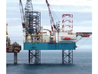 The 'Rowan Norway', an N-Class ultra-harsh environment jack-up rig