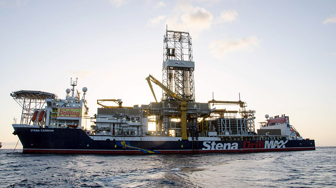 The 'Stena Carron' is a harsh environment, dynamically positioned DP Class 3 drillship capable of drilling in water depths up to 3,000 metres