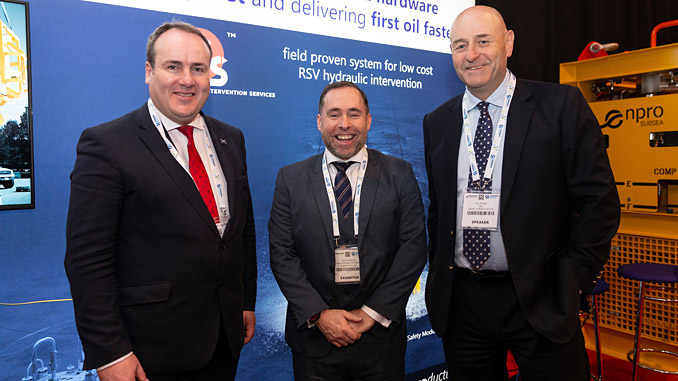 Paul Wheelhouse, MSP; David Rennie, Scottish Enterprise's head of Energy and Low Carbon Technologies; and Ian Donald, Enpro Subsea managing director