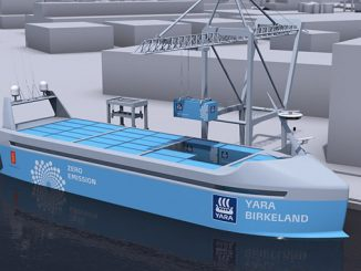 With this new autonomous battery-driven container vessel Yara moves transport from road to sea and thereby replaces 40,000 truck journeys per year