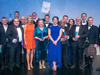 Offshore Achievement Award winners with Rachel Riley