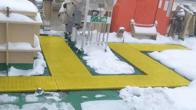 nVent RAYCHEM ArticStep de-icing panels in action