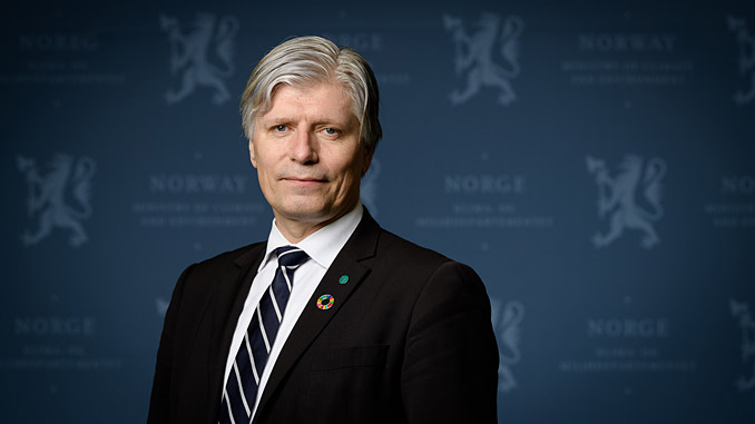 Norwegian Minister of Climate and the Environment, Ola Elvestuen (photo: Bjørn H. Stuedal/Norwegian Ministry of Climate and the Environment)