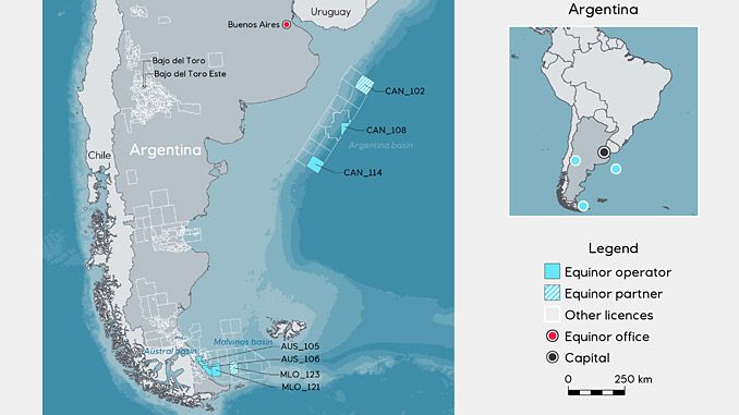 Equinor wins in the 1st Offshore Licensing Round in Argentina
