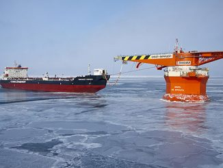 Shuttle tanker 'Timofey Guzhenko' at work – the Wärtsilä Fleet Operations solution will help Sovcomflot maintain sustainable operations in Arctic waters