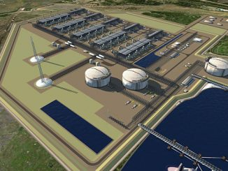 Rendering of Tellurian's Driftwood LNG near Lake Charles, Louisiana