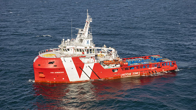 The Vroon 'VOS Gorgeous' emergency rescue and response vessel