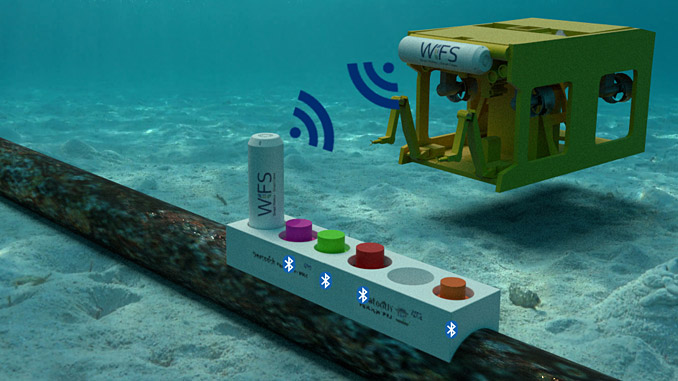 WFS provides wireless subsea devices which are designed to provide robust, long-term monitoring of subsea hardware