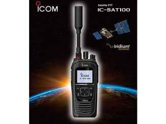 Icom's IC-SAT100 provides a true land-mobile radio (LMR) experience through Iridium® Push-To-Talk (PTT)
