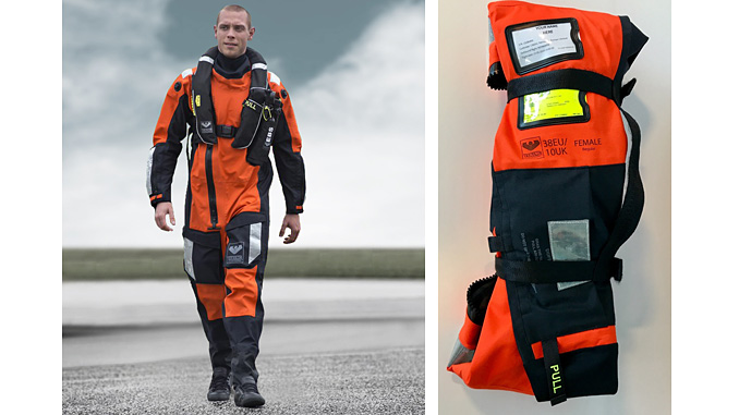 The new Immersion suits come in a range of sizes and can be rolled like a yoga mat and secured with re-usable Velcro