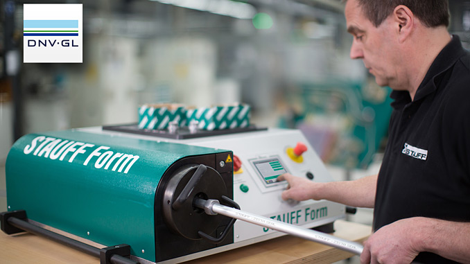 The compact forming machine is particularly quiet and easy to operate