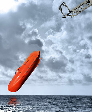 GES freefall lifeboats are suitable for all types of ships and offshore installations