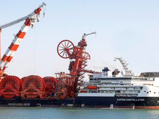 The 'Saipem Constellation', an ultra deepwater rigid and flexible pipelay, heavy lift, construction DP 3 vessel