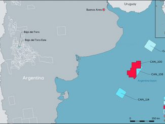 CAN 100 offshore block, located in the North Argentinian Basin