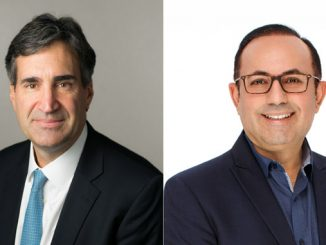 At left, Malcolm Frank, Executive Vice President, Chief Strategy Officer and Chief Marketing Officer, Cognizant, and AJ Abdallat, CEO Beyond Limits (photos: Cognizant/Beyond Limits)