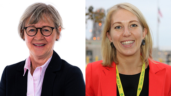 Gro Gunleiksrud Haatvedt, Vice President and Group Head of Exploration, and Amanda Chilcott, Group Human Resources Director (photos: Neptune Energy Group)