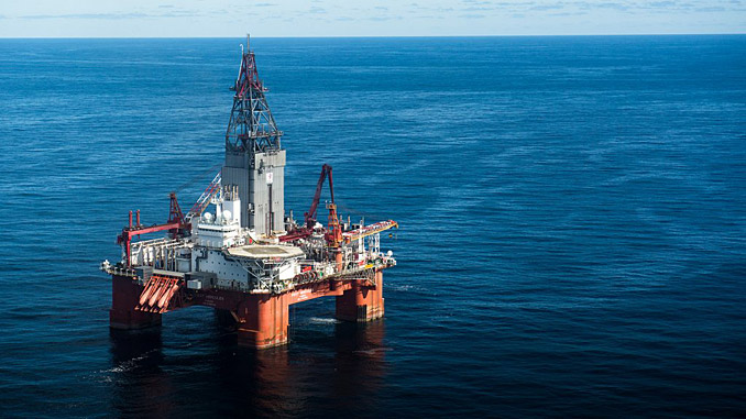 The 'West Hercules' drilling rig in the Barents Sea (photo: Equinor/Ole Jørgen Bratland)