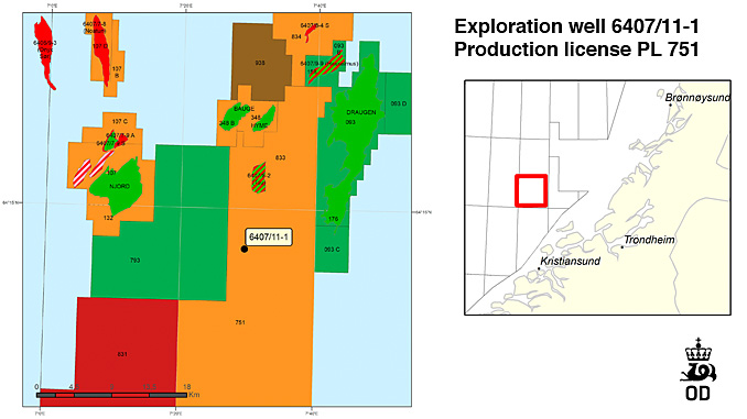 The drilling programme for well 6407/11-1 entails the drilling of a wildcat well in production licence 751