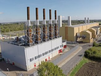 The 50 MW Wärtsilä-built plant in Brigg (above, in front) will balance the stability of the grid – together with the 50 MW Peterborough plant, the plants will generate enough electricity to supply 100,000 homes
