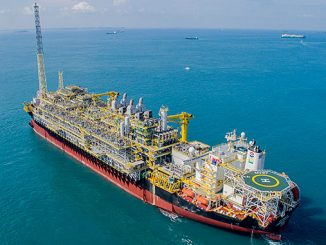 """The 'FPSO Cidade de Caraguatatuba MV27' is deployed for operation in the Lapa (formerly Carioca) oil field in the """"pre-salt"""" region of the Santos Basin off the coast of Brazil (photo: MODEC)"""