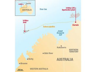 Ichthys LNG will develop reserves of more than 3 billion barrels of oil equivalent located offshore Western Australia
