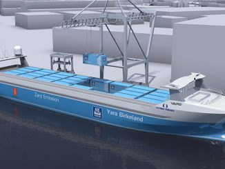 The 'Yara Birkeland' will be the world's first autonomous and electric container vessel with zero emissions
