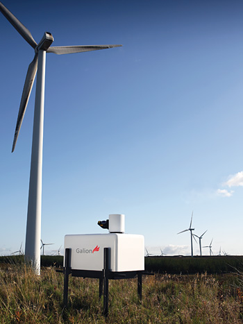 Electronic sheep – advanced LIDAR technology placed at an optimal location and left for 3 to 6 months captures wind behaviour across a whole spectrum of conditions