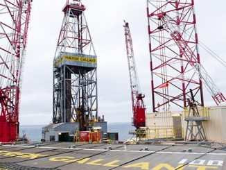 King Lear discovery in 2012 – 'Maersk Gallant' drilling rig in the North Sea