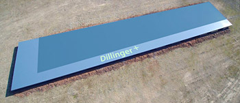 Available only from Dillinger: TM plates in Grade S355 M/ML with plate weights of up to 42 tonnes and plate thicknesses of up to 150 mm
