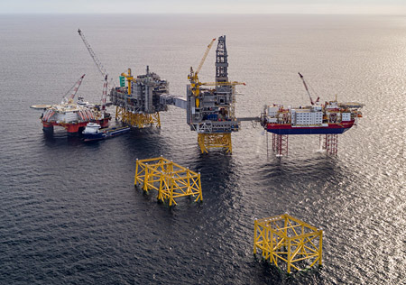 North Sea giant – Equinor's Johan Sverdrup field under construction