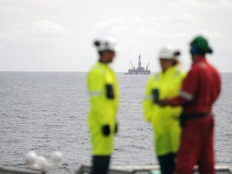 The 'Transocean Leader' drilling rig in the North Sea