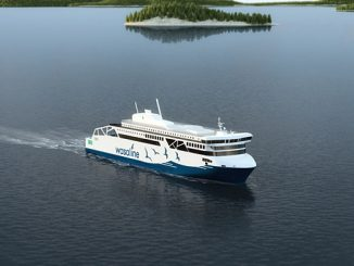 The new dual-fuel and battery power Wasaline ferry be in service in 2021