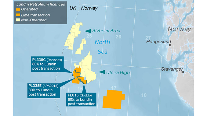 Acquisition of further interests in the Rolvsnes discovery and Goddo prospect on the Utsira High