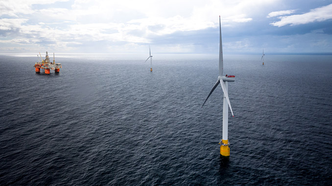 Envisioning Hywind Tampen at Snorre (illustration: Equinor)