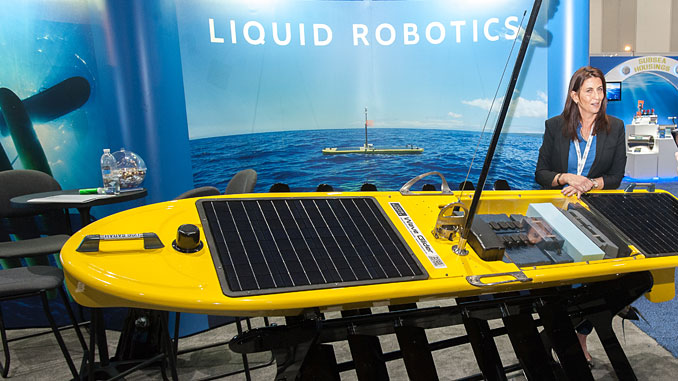After joining the debut event in 2017, autonomous vehicle developer Liquid Robotics returns to OiA on stand E31