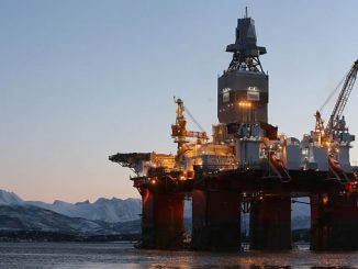 The 'Transocean Enabler', a harsh environment semi-submersible drilling rig