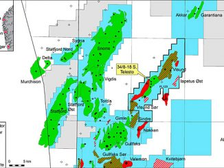 The Telesto exploration well was drilled from the Visund A platform in the Tampen area in the northern North Sea