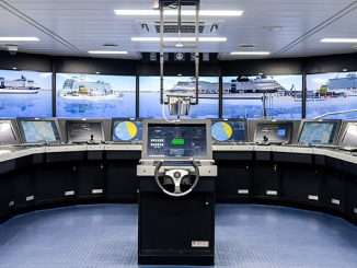 The Full mission K-Sim Navigation installed onboard the 'T/S SEGERO' training ship – visuals scenes display simulation exercise area