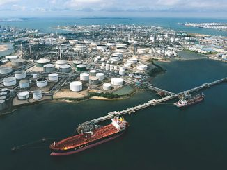 The ExxonMobil integrated manufacturing complex in Singapore
