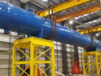 TUV SUD NEL's new gravity test separator being installed in its Advanced Multiphase Facility